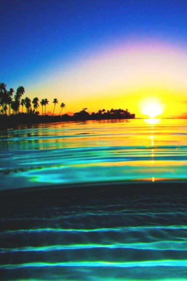 sunset fiji
